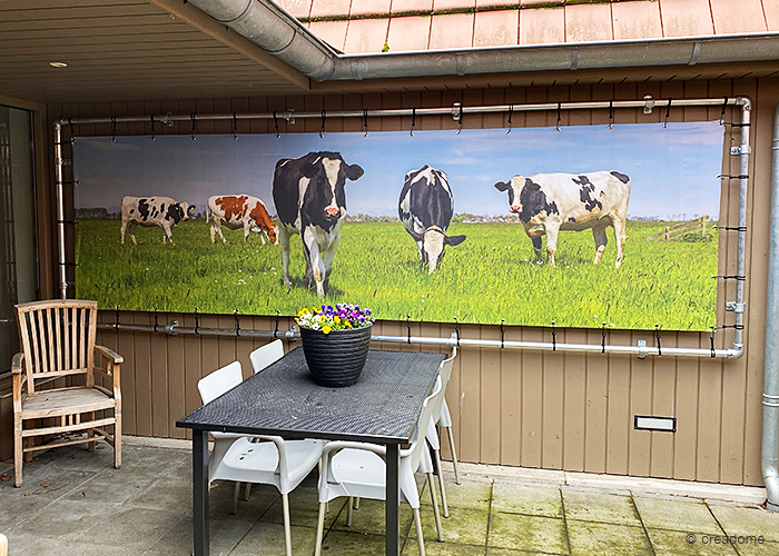 Banner zeildoek met frame – voorjaar