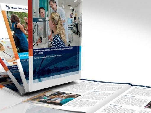 Vormgeving van diverse brochures Maastricht University