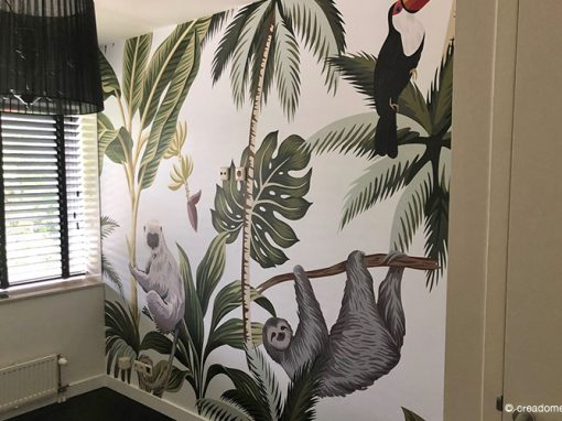 Fotobehang Jungle slaapkamer