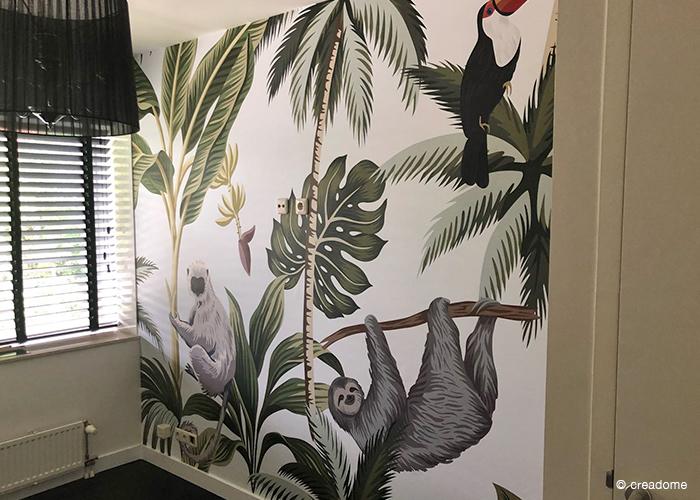 Fotobehang Jungle slaapkamer