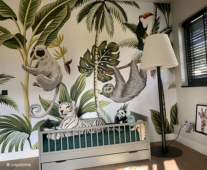Fotobehang Jungle kinderkamer