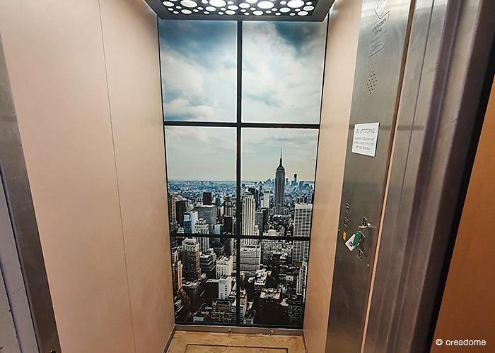 Fotobehang achterwand lift