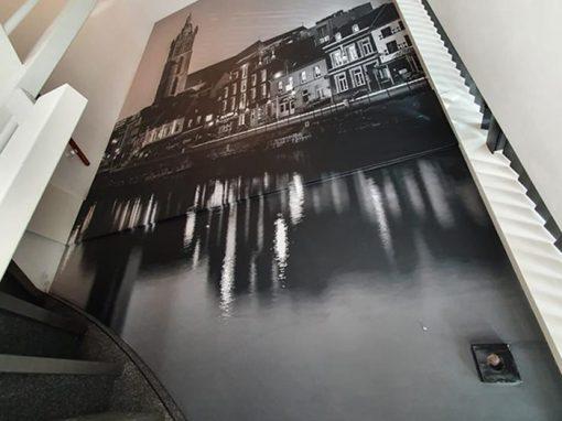 Fotobehang van Roerkade (Roermond) bij trap
