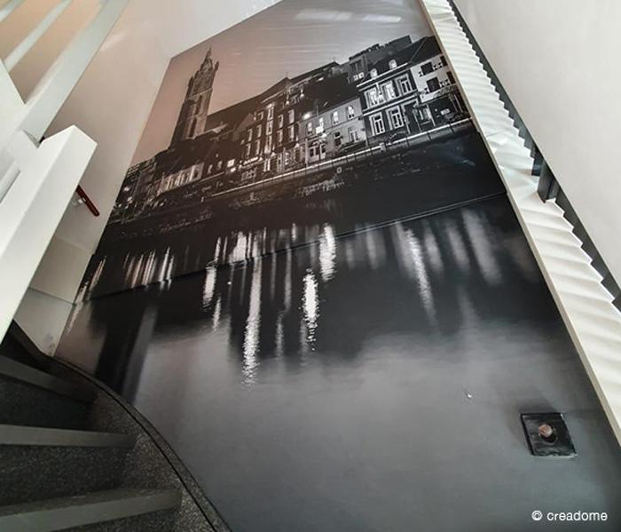 Fotobehang Roerkade (Roermond) bij trap