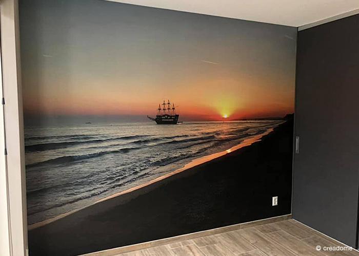Fotobehang schip op zee 1