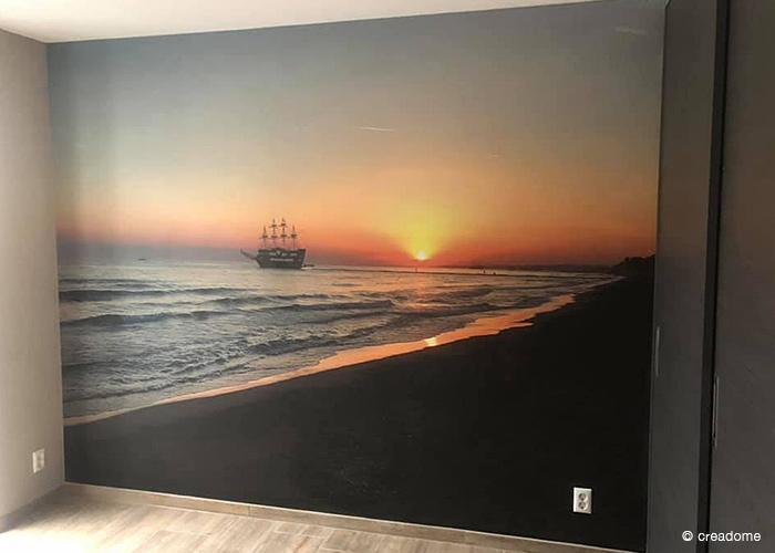 Fotobehang schip op zee 2