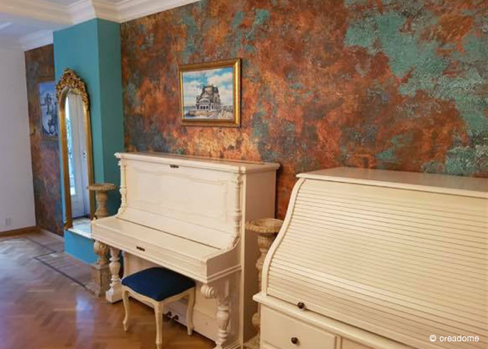 Fotobehang Vintage bronze huiskamer 3