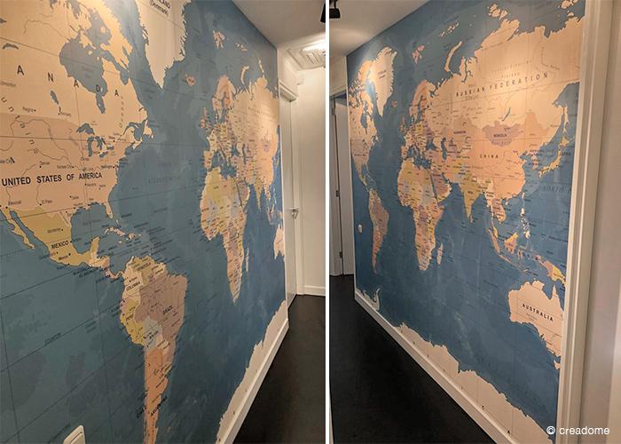 Fotobehang Wereldkaart kantoor