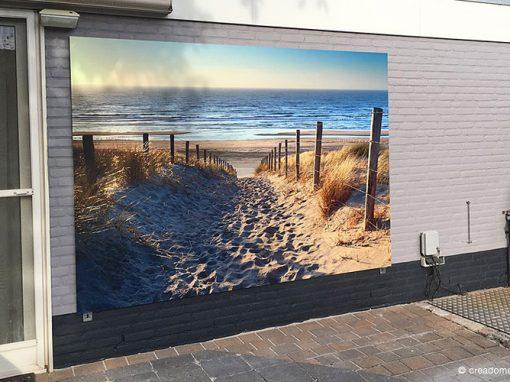 Fotopaneel buiten Duinen met uitzicht op het strand en zee