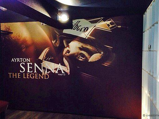 Fotobehang Ayrton Senna – Euro Indoorkarting & Bowling Swalmen