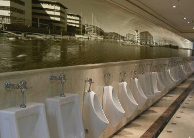 Fotobehang muur toiletten