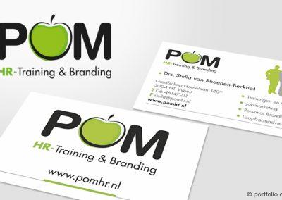 Visitekaartjes POM HR-Training & Branding