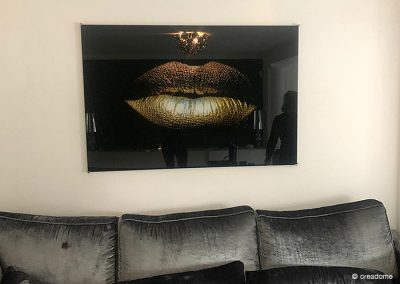 Plexiglas plaat Gouden lippen