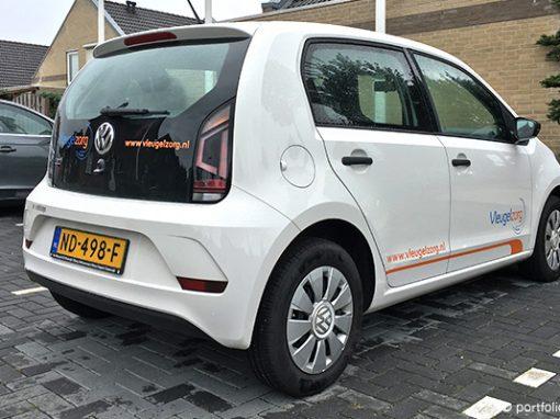 Belettering VW Up Vleugelzorg