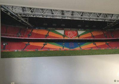 Textieldoek Ajax stadion met frame slaapkamer