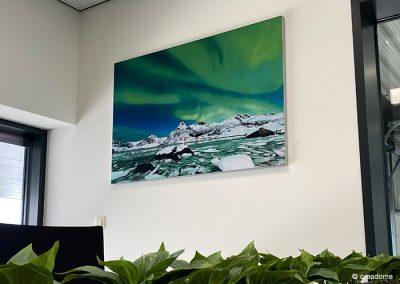 Noorderlicht wisselbaar textieldoek met frame