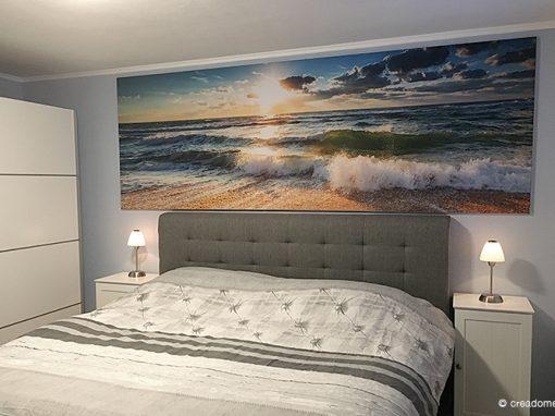 Textieldoek strand met frame slaapkamer