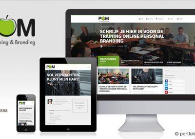 Website POM HR-Trainingen en Branding
