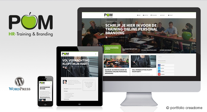 Website POM HR-Trainingen en Branding